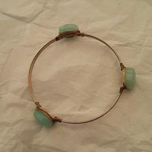 Vintage glass wire bracelet